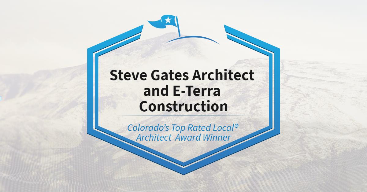 Colorado's Top Rated Local® Architect Award Winner: Steve Gates Architect