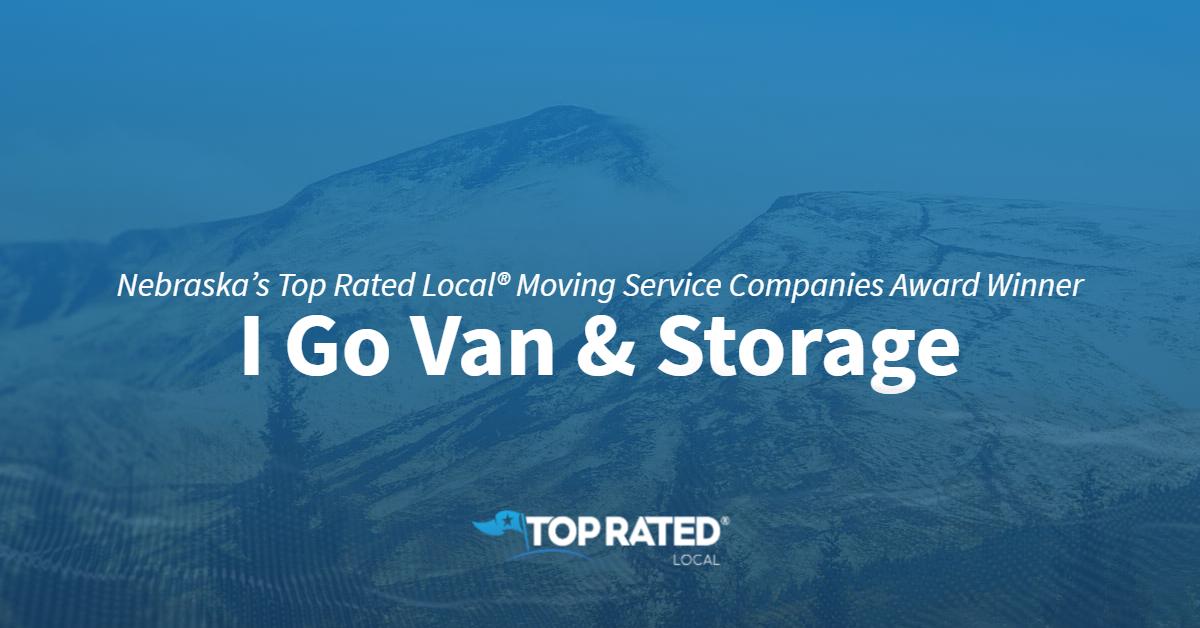 Nebraska's Top Rated Local® Moving Service Companies Award Winner: I Go Van & Storage