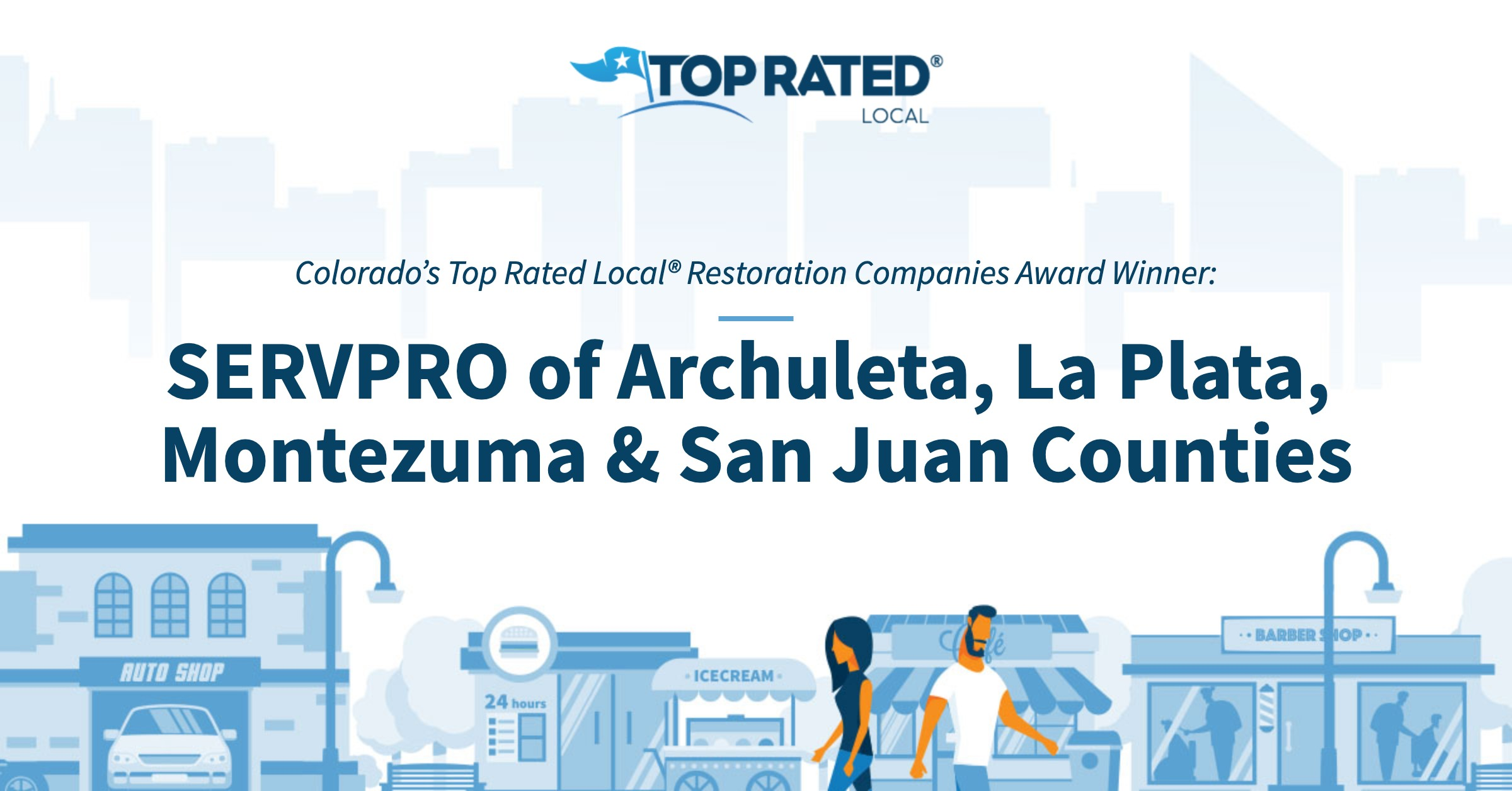 Colorado's Top Rated Local® Restoration Companies Award Winner: SERVPRO of Archuleta, La Plata, Montezuma & San Juan Counties