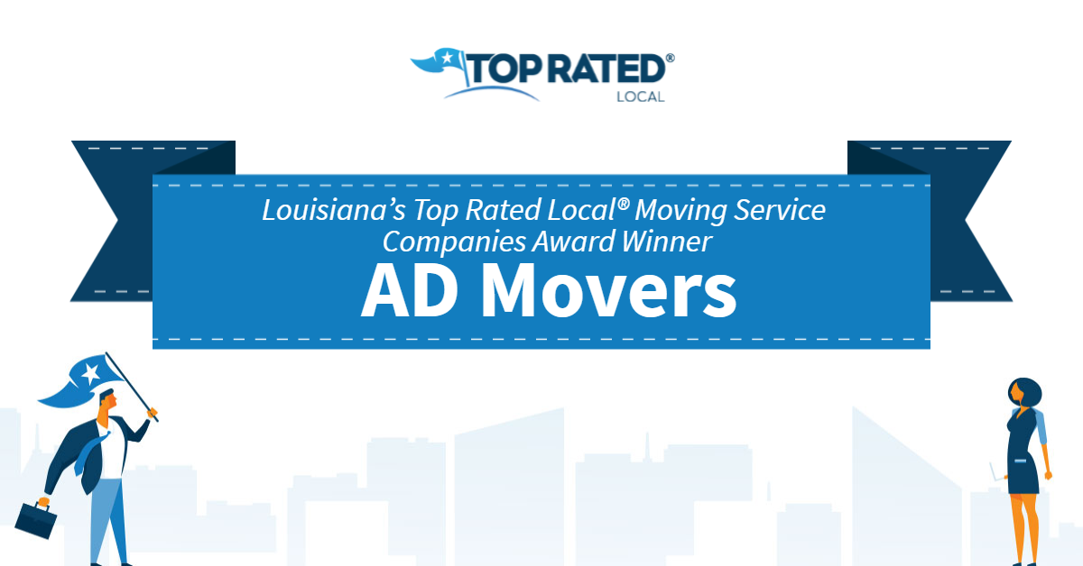 Louisiana's Top Rated Local® Moving Service Companies Award Winner: AD Movers